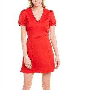 BCBGENERATION WOMEN'S ELECTRIC RED V NECK DRESS